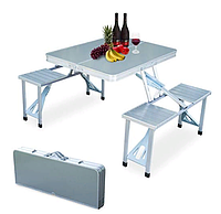 Раскладной стол и стулья алюминий DFPP 4 Seater Folding Type Portable Aluminium Picnic Table