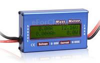 Амперметр-вольтметр-ваттметр постоянного тока 100А автомобильный электронный цифровой