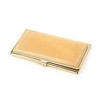 Визитница из дерева светлая лакированная и золотистым покрытием корпуса S85