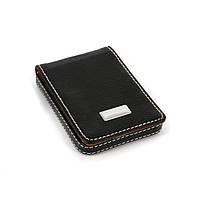 Визитница черная небольшой деловой аксессуар бизнесмена S8003-3