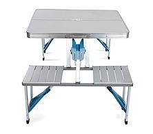 Раскладной стол и стулья Artist Hand Aluminum Folding Picnic Table with 4 Seats Portable Camping Table, фото 2
