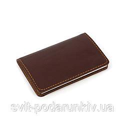 Визитница из кожи прессованной карманная S903-2