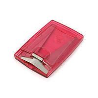 Прикольная визитница красная полупрозрачная закрытая с валиком SYS10821082
