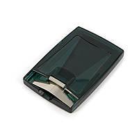 Визитница пластиковая темно зеленая с отверстием сверху SYS1083
