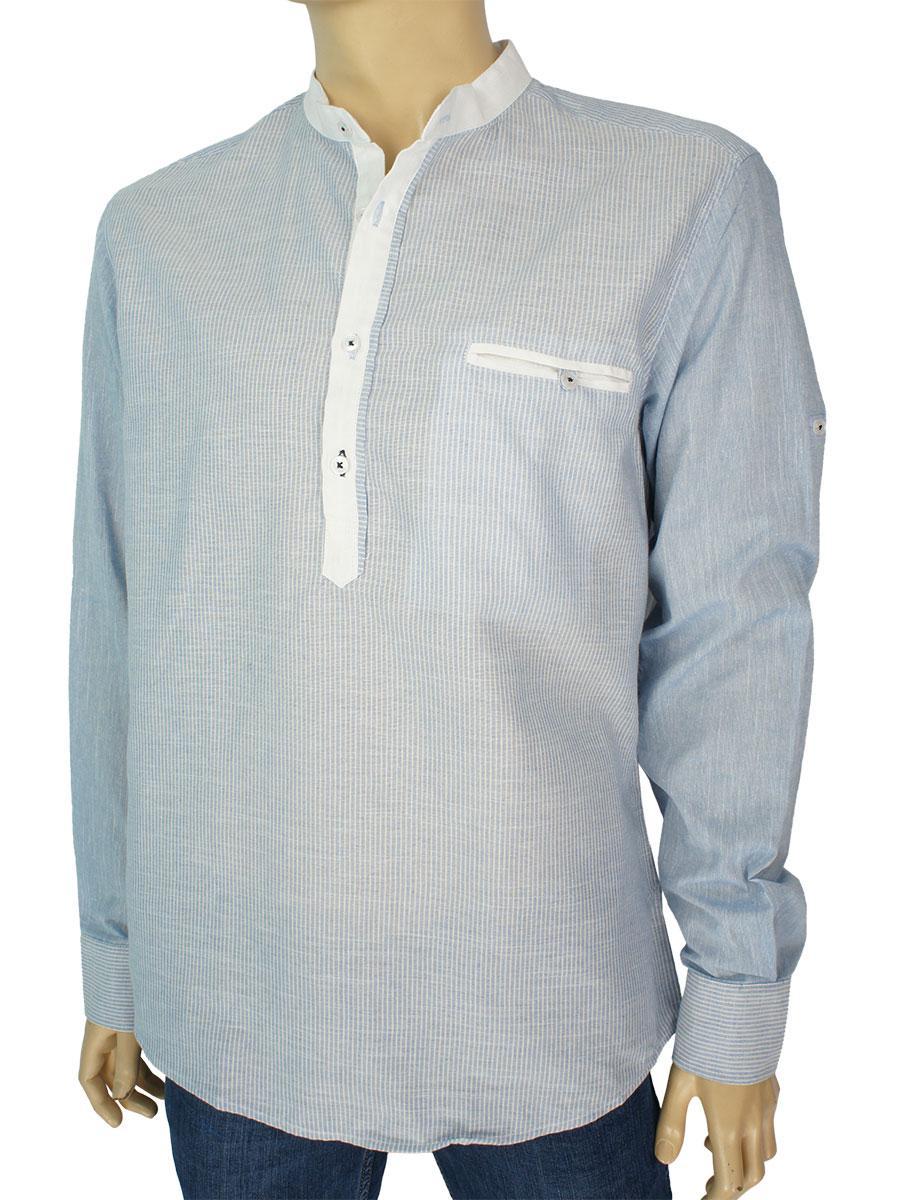 Стильная мужская рубашка Barcotti A:0068-05 в голубом цвете
