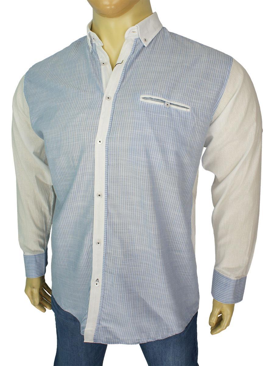 Мужская хлопковая рубашка Barcotti A:0168-07 большого размера
