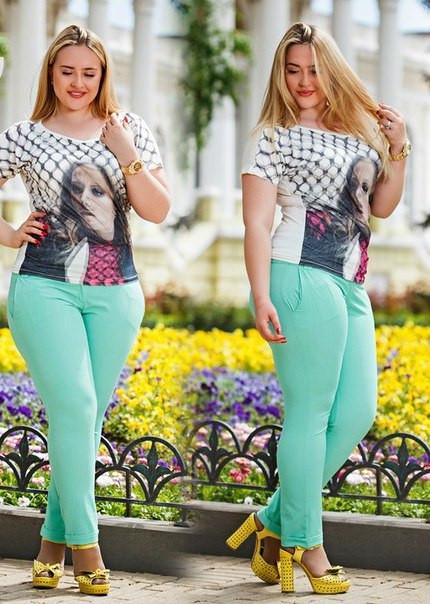 Летние женские брюки больших размеров