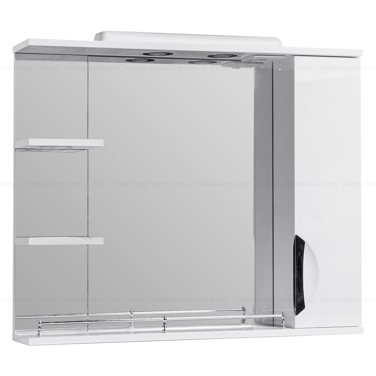 Дзеркало з підсвічуванням для ванної кімнати ГРАЦІЯ Z2 85 R (біле)