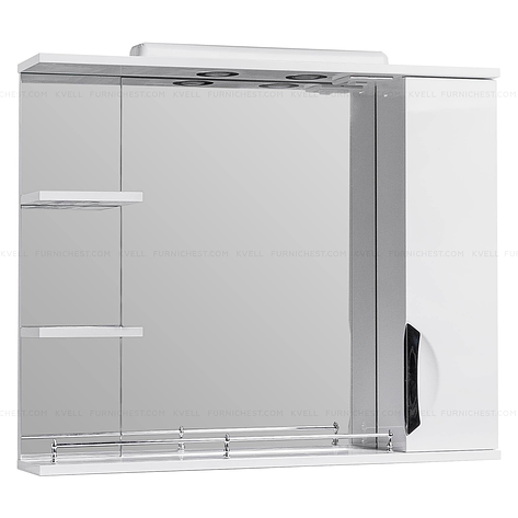 Дзеркало з підсвічуванням для ванної кімнати ГРАЦІЯ Z2 85 R (біле), фото 2