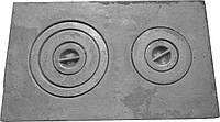 Плита чугунная печная с комфорками ПД-2 (590 х 350 мм.)