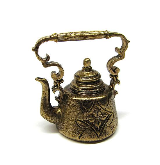 Дзвіночок колекційний з бронзи Чайник