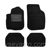 Коврики ворсовые черные универсальные текстиль Carrera тип С
