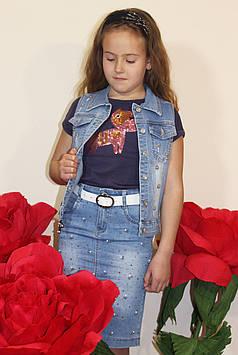"""Юбка на девочку джинсовая """"Гуччи"""""""