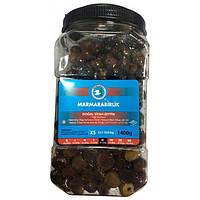 Турецкие оливки черные вяленые (маслины) 1400 г Marmarabirlik XS