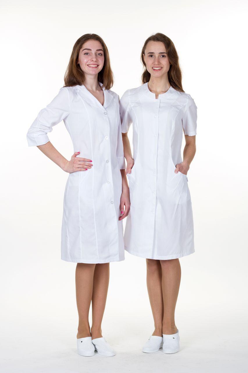 """Жіночий  медичний   халат  """"Євдокія""""   (х/б)"""