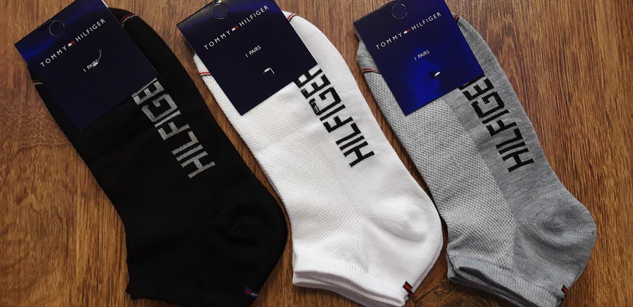 """Чоловічі шкарпетки стрейч.сітка в стилі""""Tommi Hilfiger""""Туреччина оригінал(41-44) короткі"""