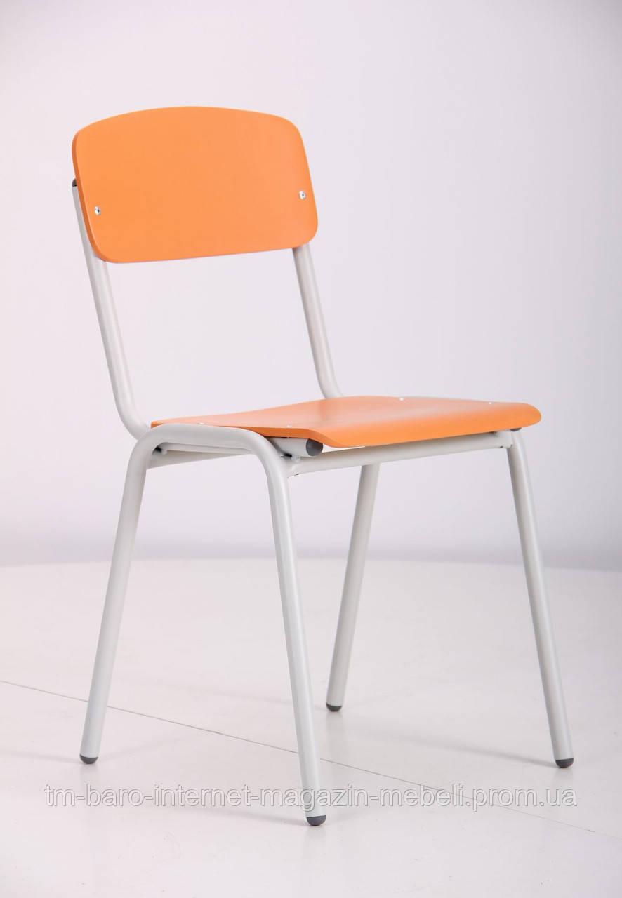 Стул Ученический №3 серый RAL 7035 апельсин