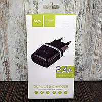Зарядное устройство Hoco C12 2 USB (2.4A)