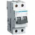 Автоматический выключатель In=16А, 2п, В, 6 kA, 2м Hager (MB216A)