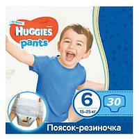 """Підгузки-трусики для хлопчиків """"Huggies"""" 6 (15-25 кг) 30 шт., фото 1"""