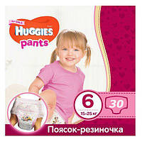 """Подгузники-трусики для девочек """"Huggies"""" 6 (15-25 кг) 30 шт."""