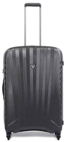 Чемодан дорожный стильный из пластика 70 л. Roncato UNO ZIP 5082/22 антрацит(серый)