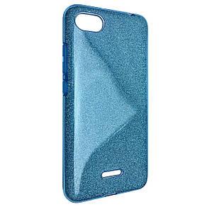 Чехол Silicone Glitter Heaven Rain Xiaomi Redmi 6A (blue)