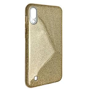 Чехол-накладка DK-Case Silicone Glitter Heaven Rain для Samsung M10 (gold)
