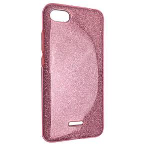 Чехол-накладка DK-Case Silicone Glitter Heaven Rain для Xiaomi Redmi 6A (light pink)