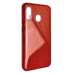 Чехол-накладка DK-Case Silicone Glitter Heaven Rain для Samsung A20/A30 (red)