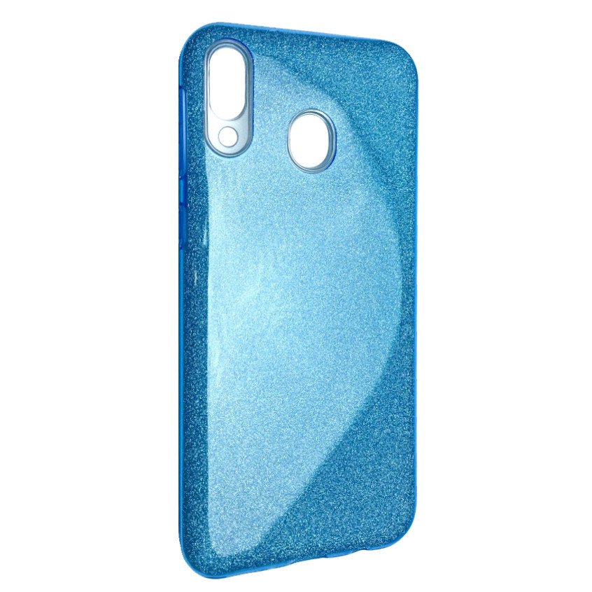 Чехол Silicone Glitter Heaven Rain Samsung A40 (blue)