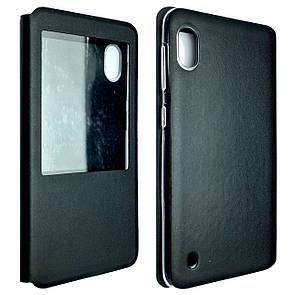 Чехол -книжка кожа Samsung A10 (black)