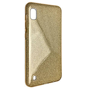 Чехол Silicone Glitter Heaven Rain Samsung A10 (gold)