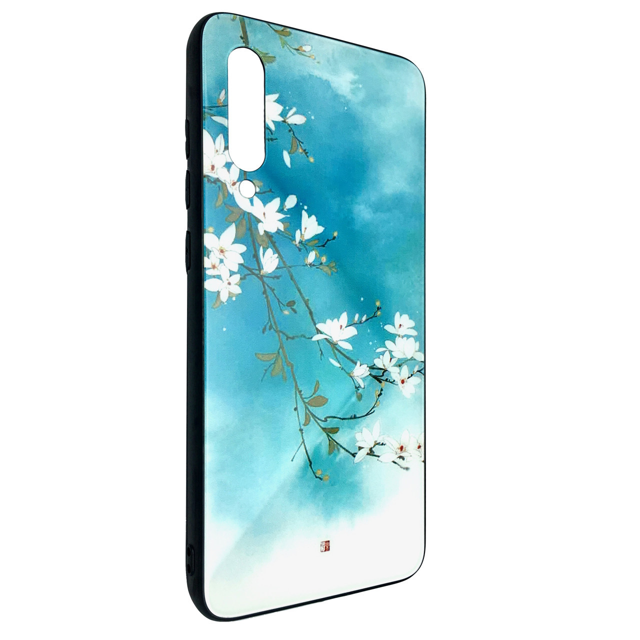 Чохол Glass Case Sakura Xiaomi Mi 9 (blue)