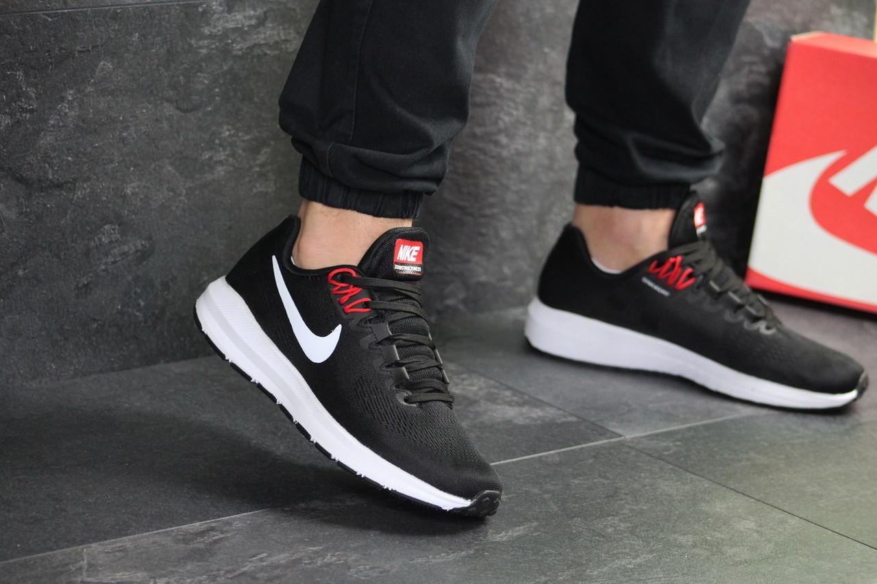 Мужские кроссовки Nike Air Zoom Structure 21 (черно-белые)