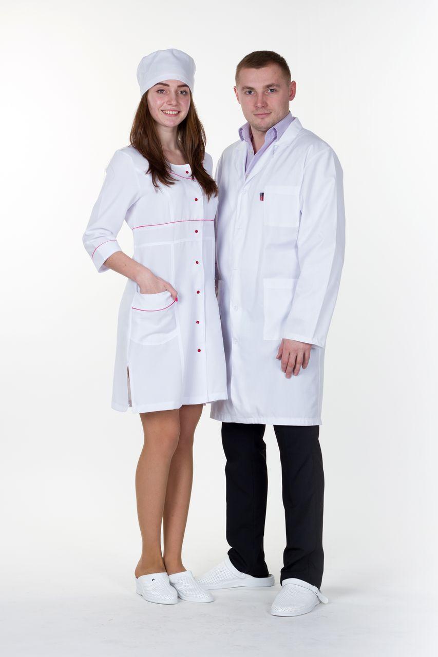 "Жіночий  медичний   халат ""Ліза""   (габардин)"