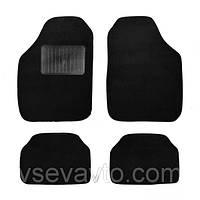 Коврики ворсовые черные универсальные текстиль Carrera тип B