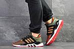Мужские кроссовки Adidas Equipment 91/18 (темно-зеленые с оранжевым), фото 2