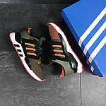 Мужские кроссовки Adidas Equipment 91/18 (темно-зеленые с оранжевым), фото 3