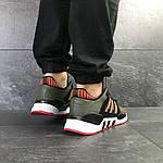 Мужские кроссовки Adidas Equipment 91/18 (темно-зеленые с оранжевым), фото 5