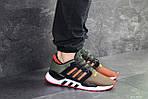 Мужские кроссовки Adidas Equipment 91/18 (темно-зеленые с оранжевым), фото 6