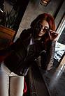 Куртка - Косуха Кожаная Коричневая Женская 0115КЖТ, фото 4