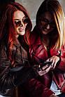 Куртка - Косуха Кожаная Коричневая Женская 0115КЖТ, фото 8