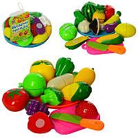 Игровой набор продуктовна липучке с посудой «Щедрый урожай»2018 B, 11 штук, 2 вида(овощи,фрукты)