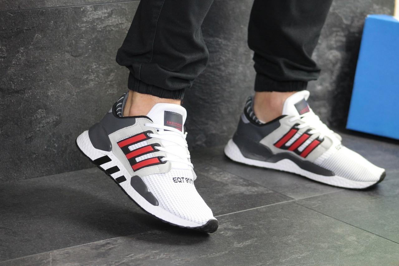 Мужские кроссовки Adidas Equipment 91/18 (бело-красные)