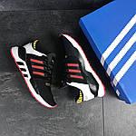 Мужские кроссовки Adidas Equipment 91/18 (черно-белые с красным), фото 2