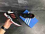 Мужские кроссовки Adidas Equipment 91/18 (черно-белые с красным), фото 3