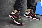 Мужские кроссовки Adidas Equipment 91/18 (черно-белые с красным), фото 5