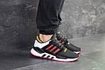 Мужские кроссовки Adidas Equipment 91/18 (черно-белые с красным), фото 6