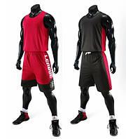 Баскетбольна форма ElitSport Vivat (чорна/червона)